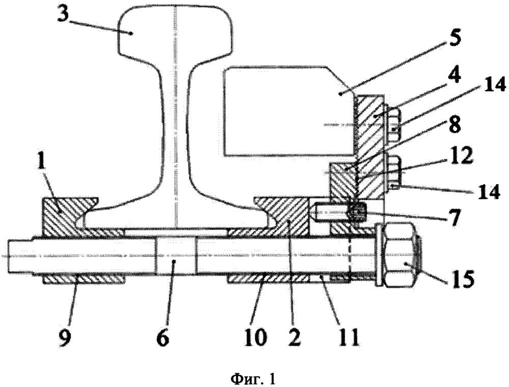 Устройство для крепления опоры датчиков или коммутационных средств на рельсах