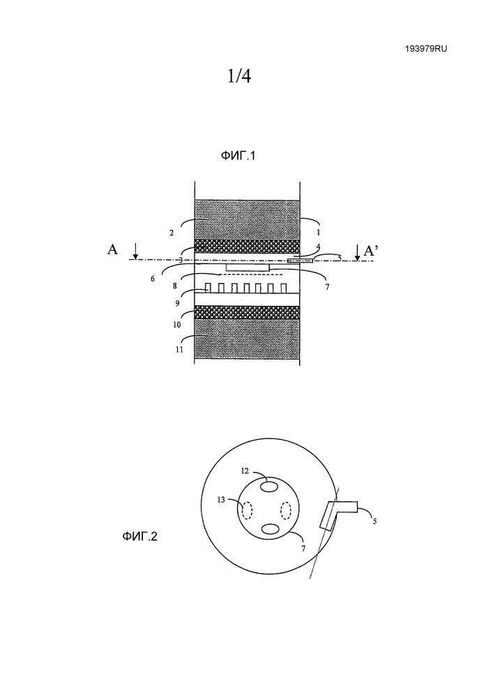 Каталитический реактор с устройством смачивания, оборудованным патрубком для тангенциального нагнетания смачивающей текучей среды. способ применения реактора и способ изготовления реактора