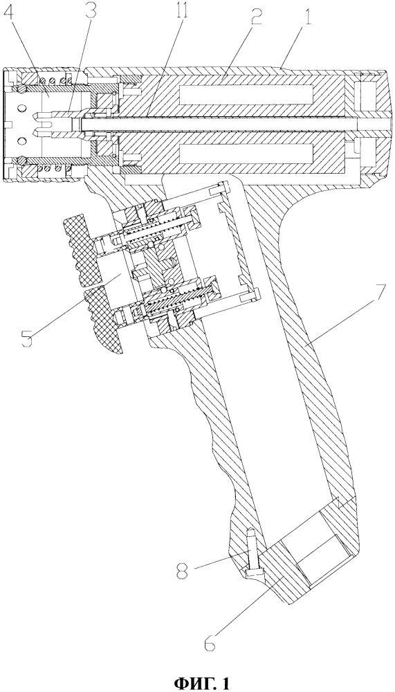 Ручной блок-пистолет с силовым приводом для сверления и перепиливания в ортопедии и силовая система, обеспечивающая сверление и перепиливание в ортопедии с помощью указанного блока-пистолета
