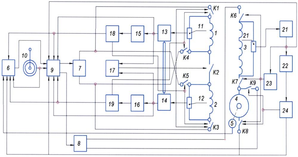Устройство для переключения обмотки возбуждения и дополнительной обмотки электродвигателя постоянного тока независимого возбуждения