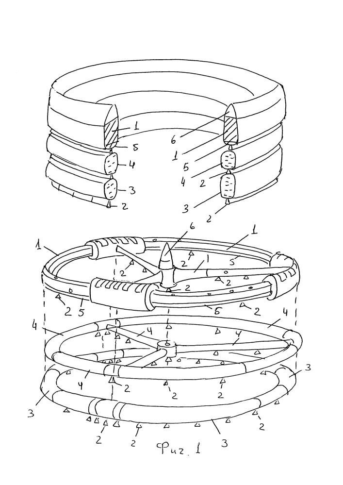 Способ и устройство для вывода в космос объектов с кольцевыми и решетчатыми поверхностями и способ вывода в космос объектов с гибкими, например, сетчато-мембранными поверхностями.