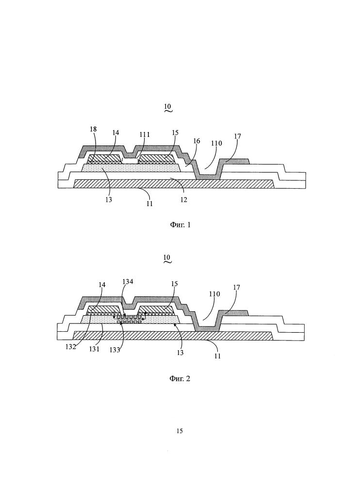 Тонкопленочный транзистор, подложка матрицы и панель дисплея
