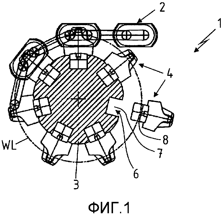 Цепной привод для звеньевых цепей забойных конвейеров или выемочных машин