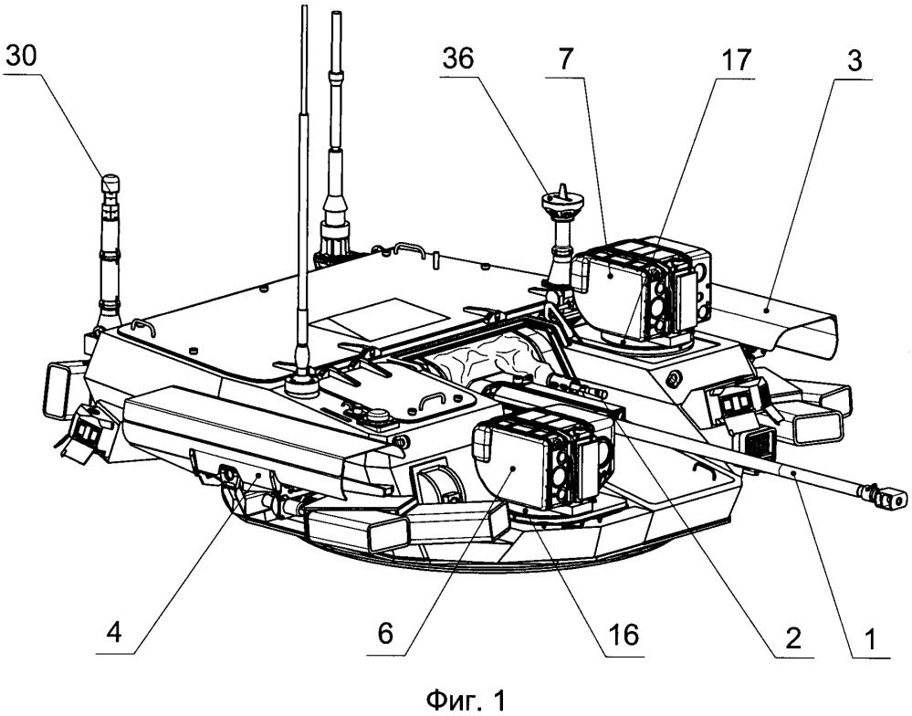 Комплекс вооружения боевой машины с информационно-управляющей системой