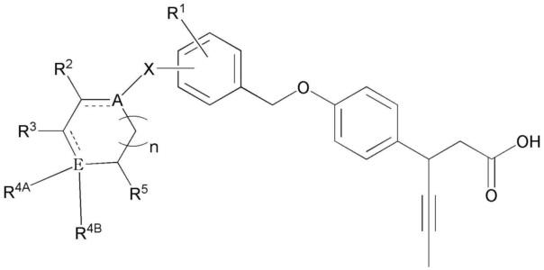 Новое производное 3-(4-(бензилокси)фенил)гекс-4-иновой кислоты, способ его получения и фармацевтическая композиция для профилактики и лечения метаболического заболевания, включающая его в качестве эффективного ингредиента