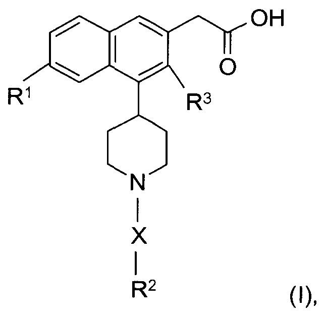 Пиперидинил нафтилуксусные кислоты