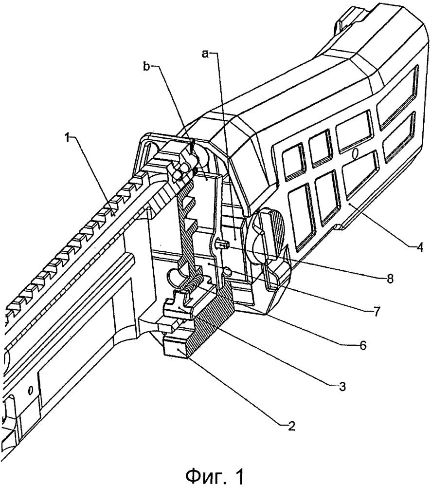 Соединительный механизм для соединения ствольной коробки огнестрельного оружия и плечевого упора
