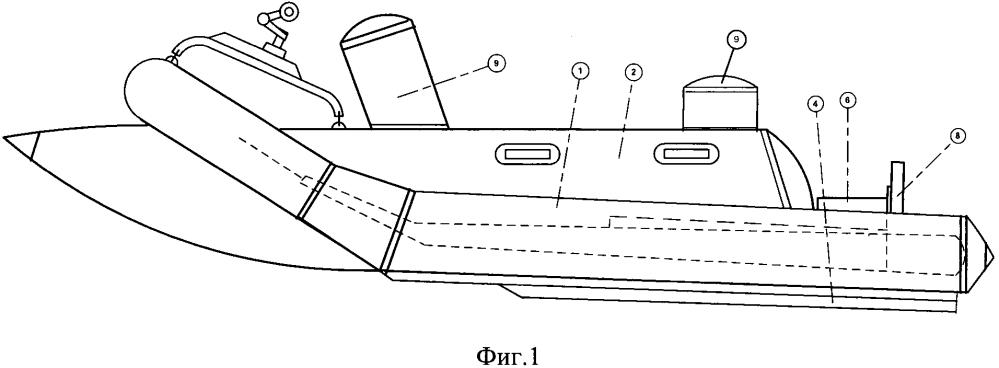 Надувной гидроцикл со стационарным транцем для подвесного мотора