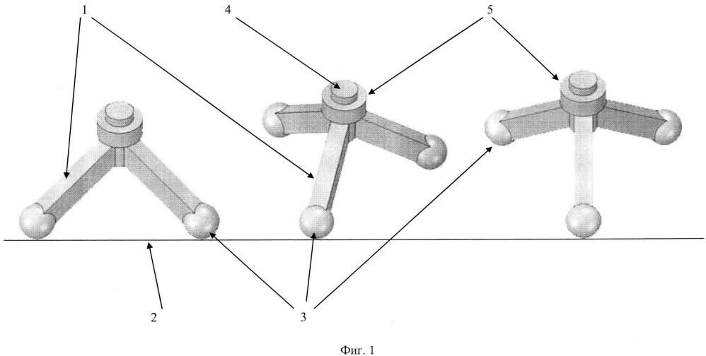 Шасси для передвижения по различным опорным поверхностям с колесно-шаговыми движителями
