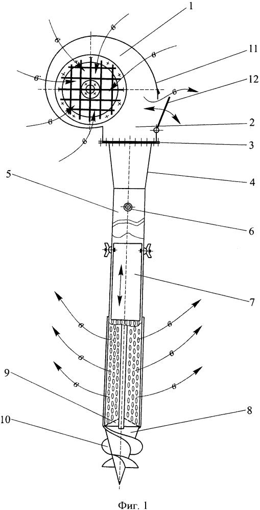 Переносное устройство для вентилирования зерна