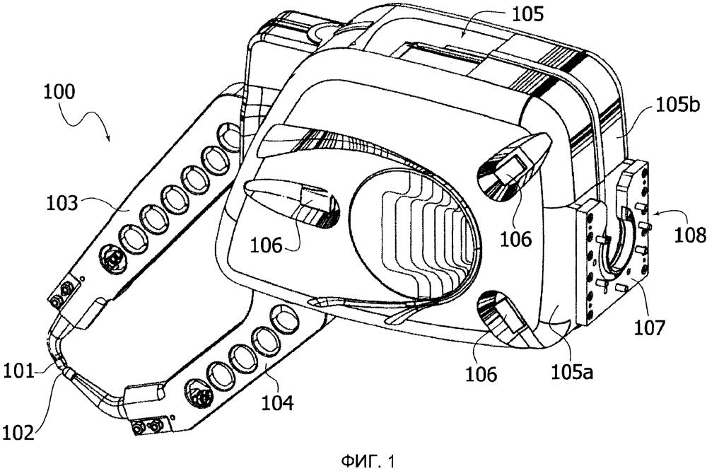 Головка электрической точечной сварки для многоосевого промышленного робота и робот, содержащий эту головку