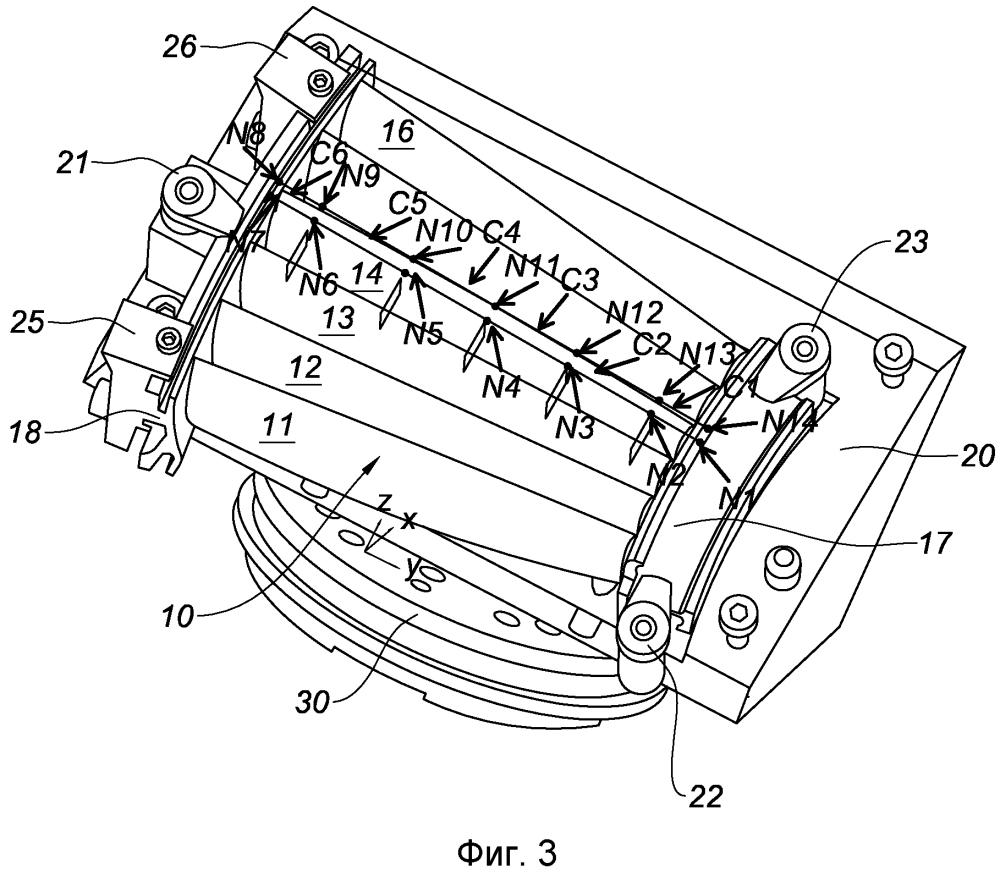 Способ механической обработки задней кромки лопатки турбомашины