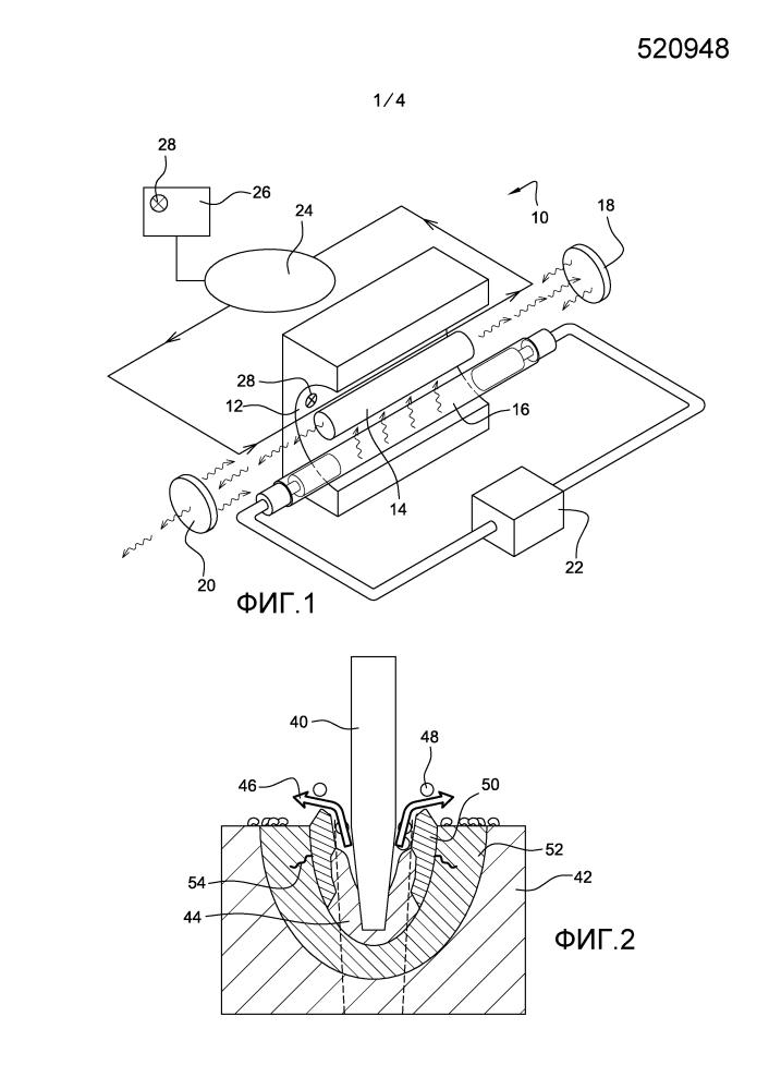 Способ и устройство для выполнения отверстий в детали при помощи лазерных импульсов