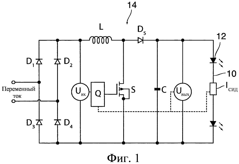 Схема драйвера светоизлучающих диодов
