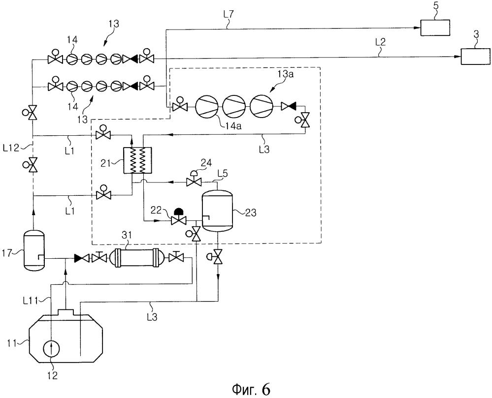 Система и способ для обработки испаряющегося газа на судне