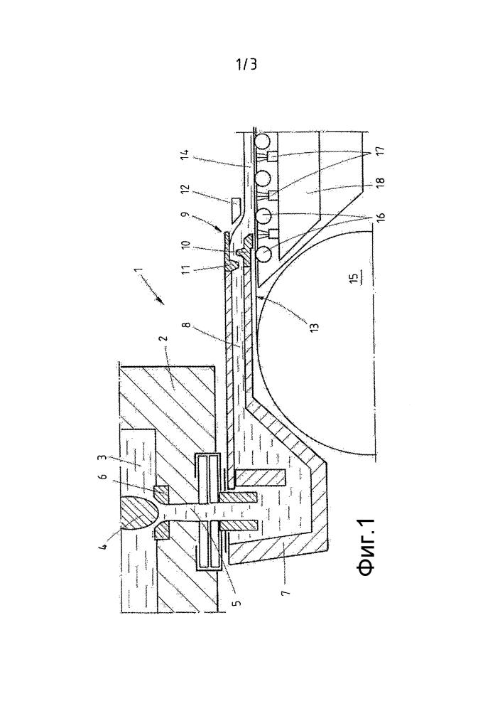 Система загрузки расплава для разливки полосы