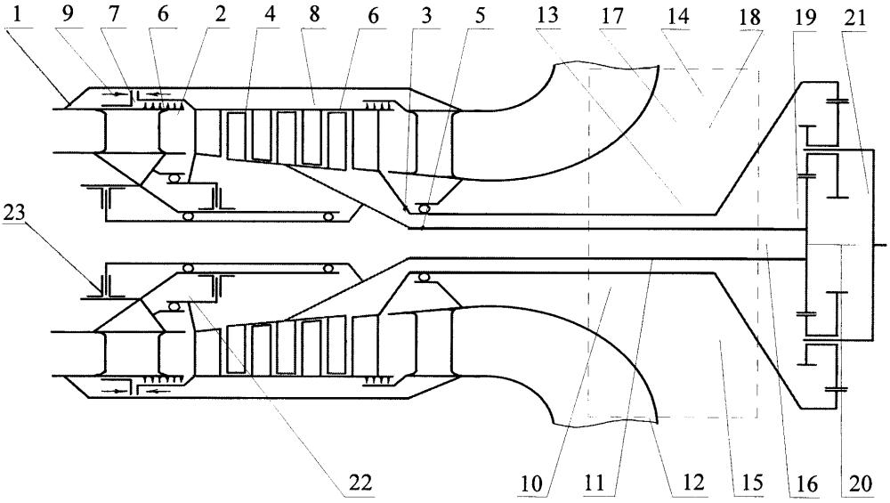 Реверсивная турбинная установка судового типа