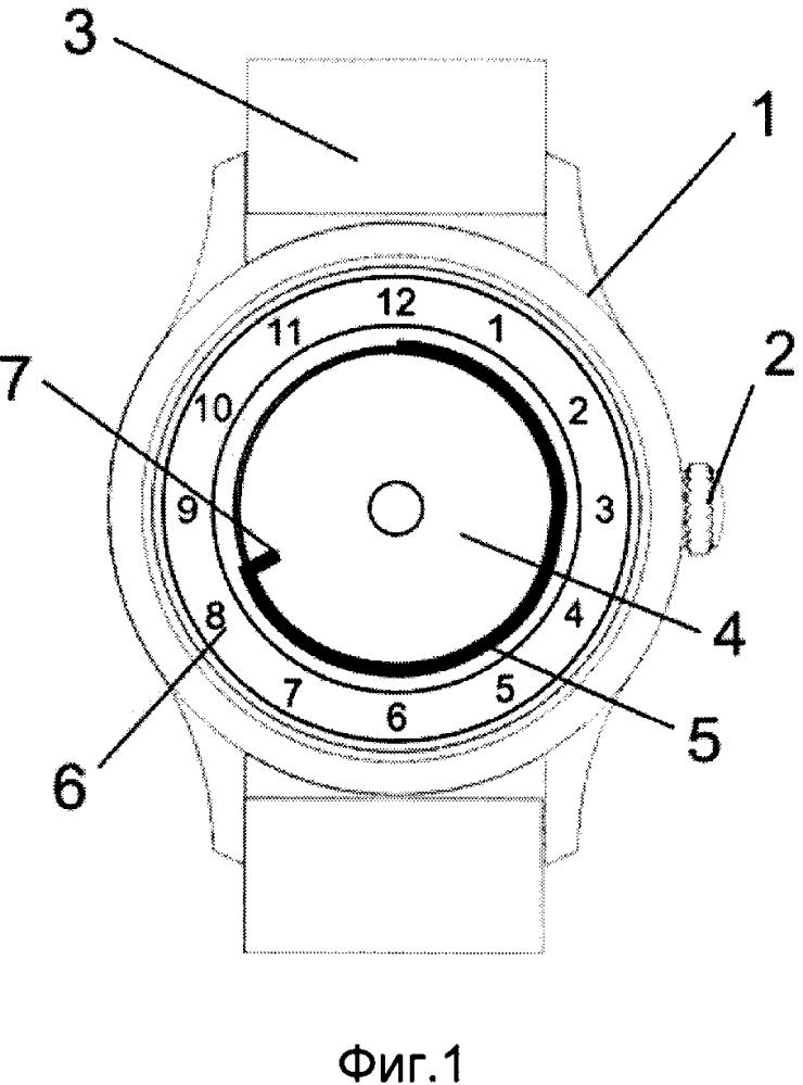 Механизм индикации периода времени гибким индикаторным элементом и часы, содержащие такой механизм