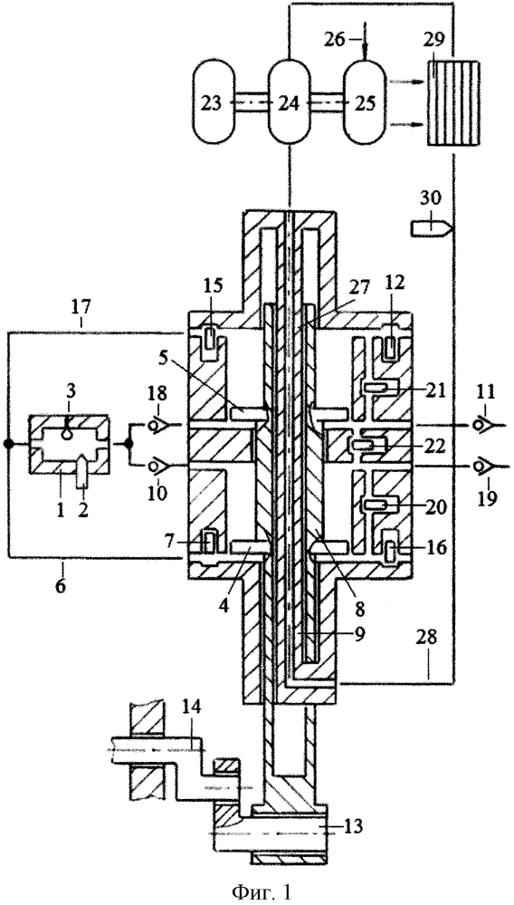 Способ бесконтактного охлаждения поршней и штоков однотактного двигателя с внешней камерой сгорания насосом с электроприводом