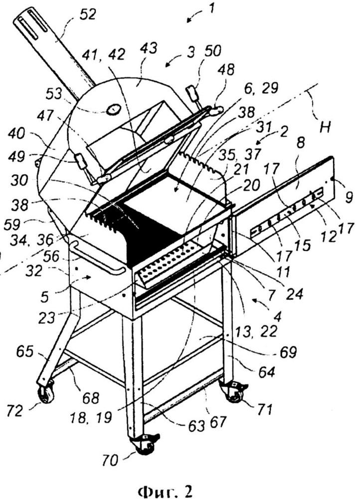 Многофункциональная установка для приготовления пищи на открытом воздухе