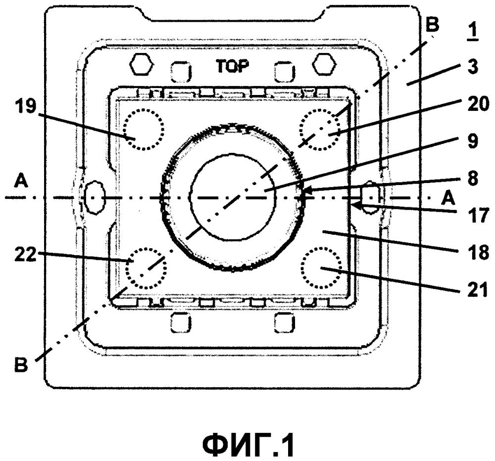 Устройство ввода электро-инсталляционной техники с поворотным управлением