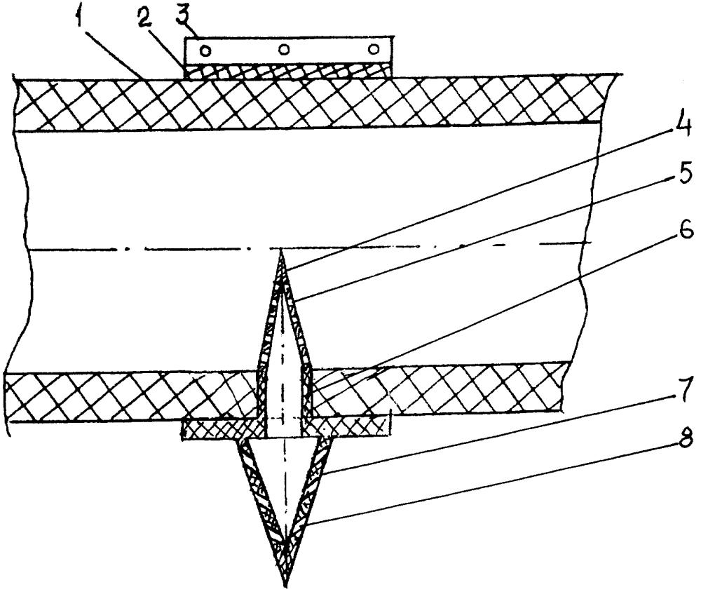 Водовыпуск гибкого поливного трубопровода системы капельного орошения