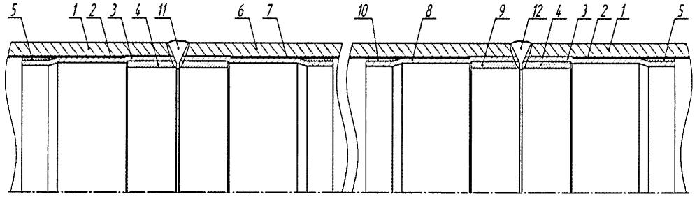 Способ ремонта трубопровода, смонтированного из труб с внутренним покрытием