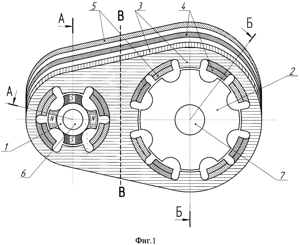 Синхронный реактивный магнитный редуктор-мультипликатор узякова