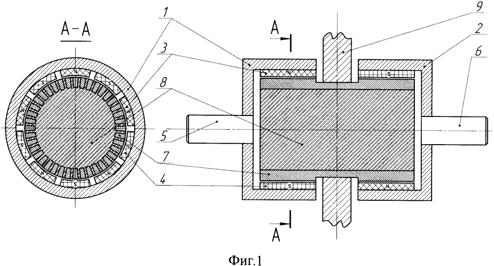 Статорная магнитная муфта узякова