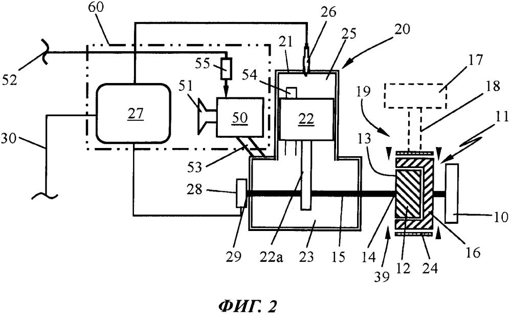 Схема блокировки запуска в рабочем инструменте с двигателем внутреннего сгорания