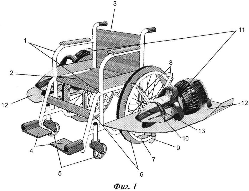Самоходная подводная инвалидная коляска скикевича