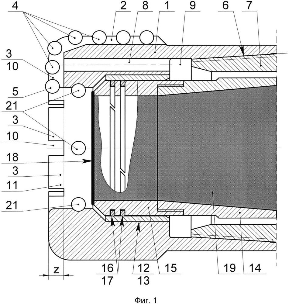 Бурголовка к керноотборному снаряду для отбора изолированного керна