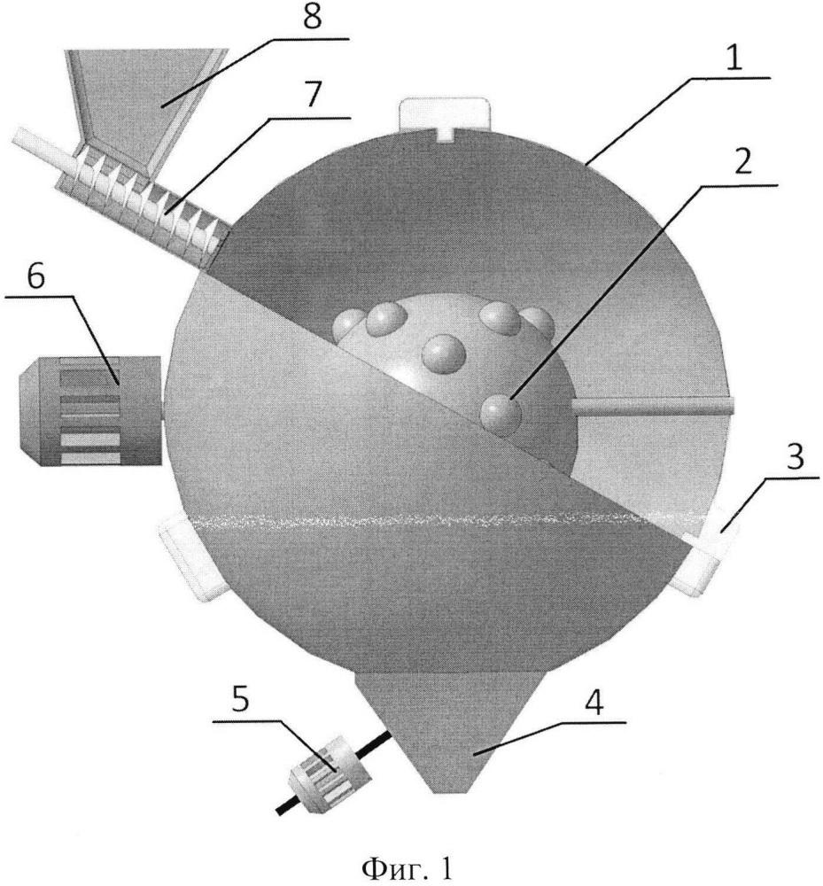 Сверхвысокочастотная установка с резонатором, образованным между двумя сферами для термомеханического разрушения сырья