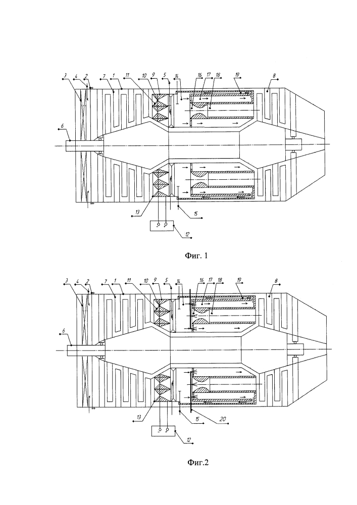Газотурбинный двигатель с паровыми форсунками