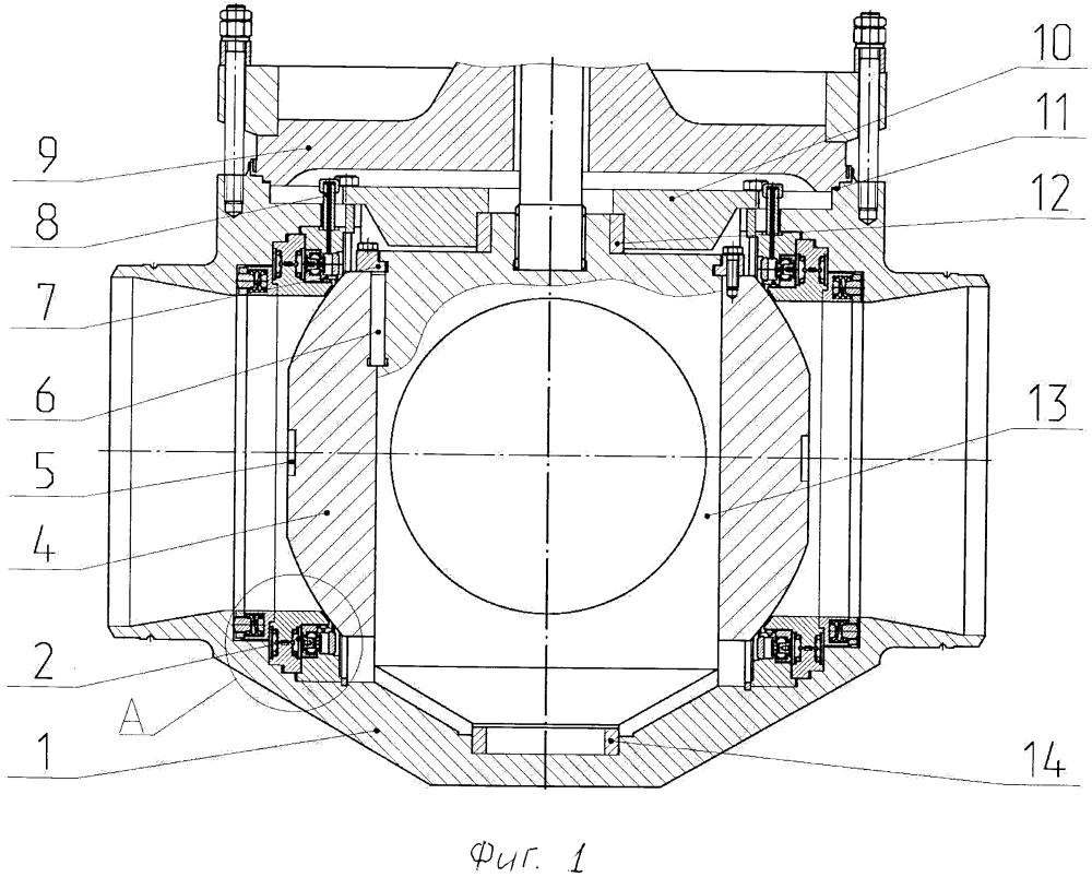 Способ монтажа затвора шарового крана в корпус