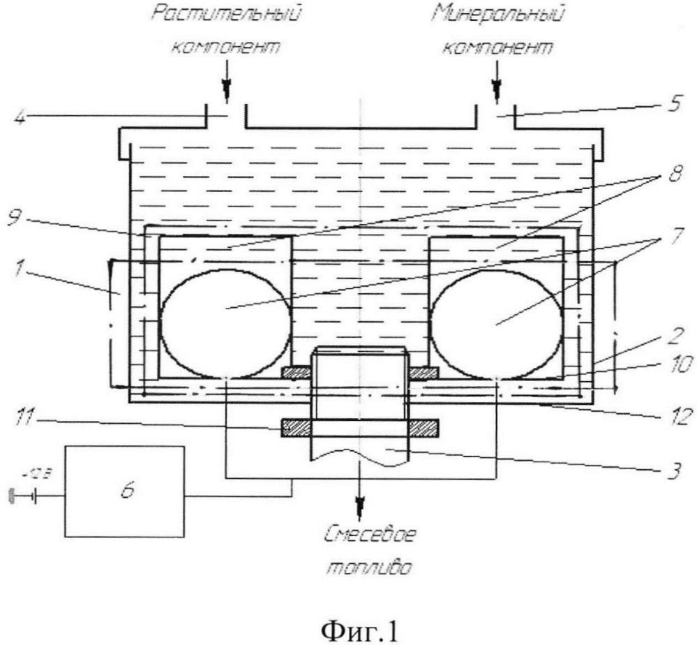 Ультразвуковой смеситель компонентов дизельного смесевого топлива