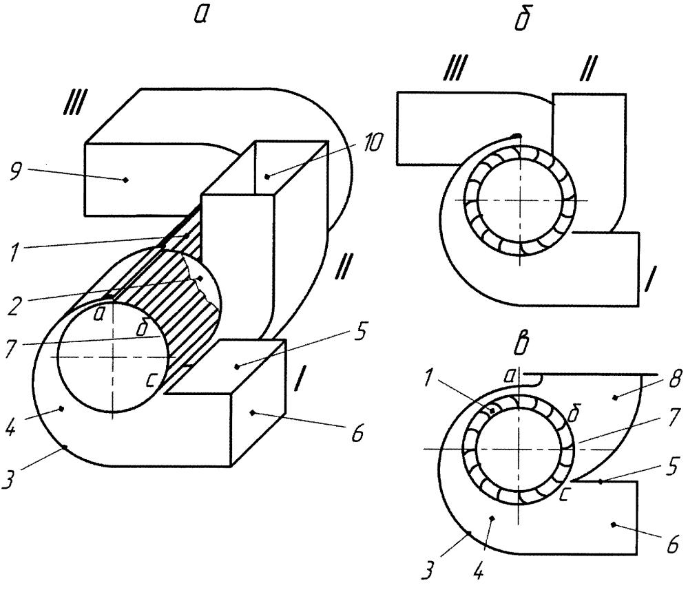 Диаметральный вентилятор для работы в разветвленной всасывающей сети