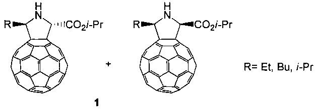 Способ получения смеси стереоизомерных изо-пропил 5-алкил-1н-пирролидино[3,4:1,9](c60-ih)[5,6]фуллерен-2-карбоксилатов