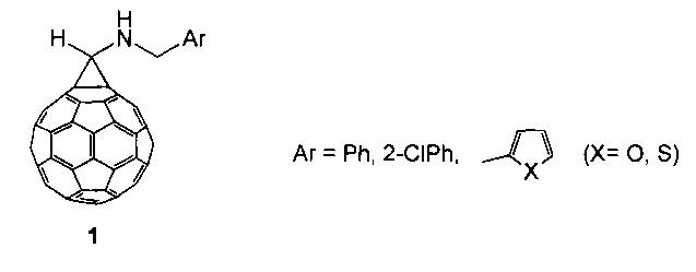 Способ получения 1-[n-(арилметил)амино]-(c60-ih) [5,6]фуллеро[2,3:1,9]циклопропанов