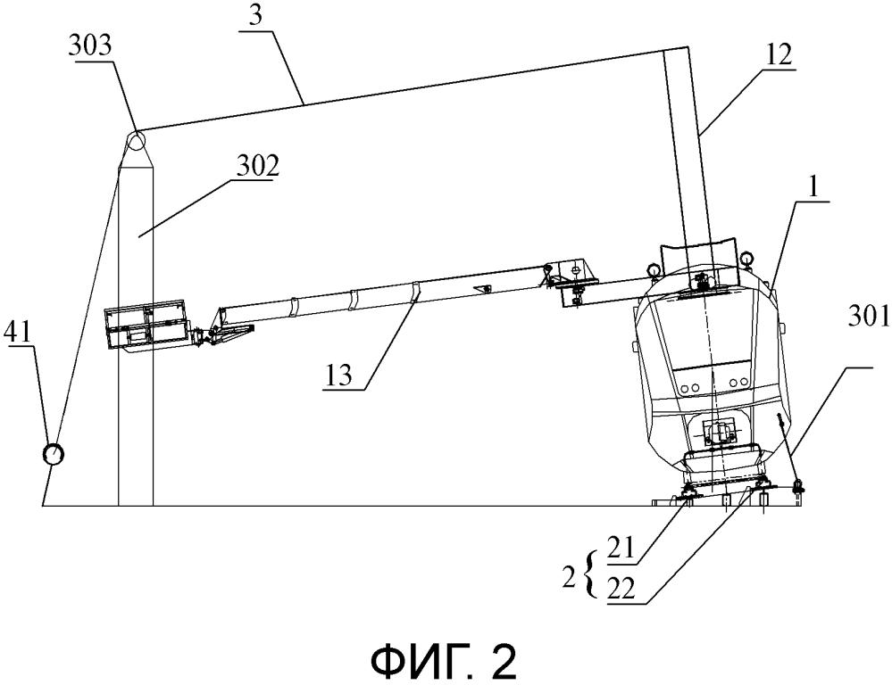 Система тестирования на опрокидывание транспортного средства для технического обслуживания и ремонта контактной подвески