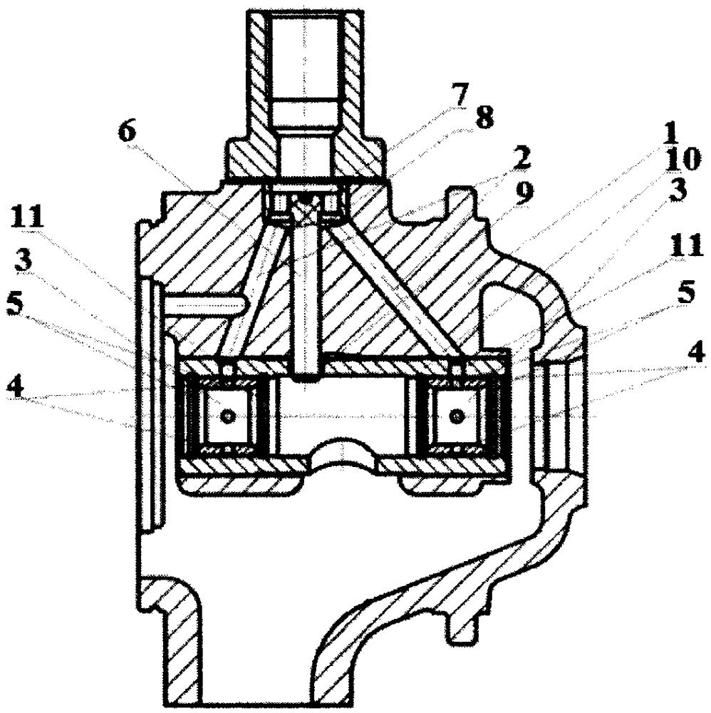 Подшипниковый узел турбокомпрессора