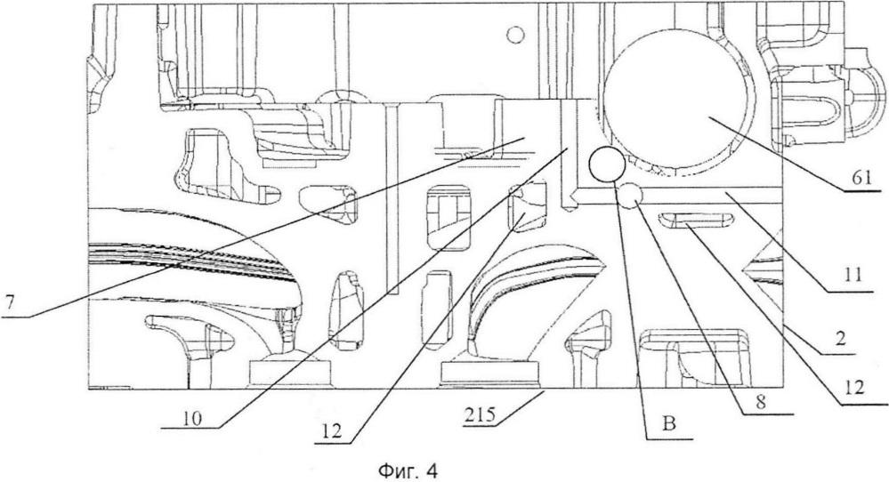 Головка блока цилиндров (варианты), способ ее изготовления (варианты) и двигатель