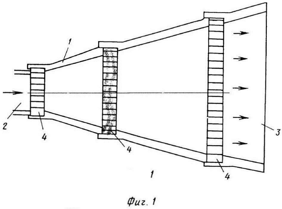 Глушитель шума газового потока конусного типа
