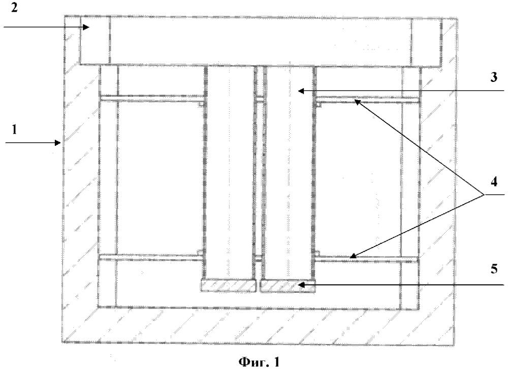 Устройство для хранения пеналов с твердыми радиоактивными отходами