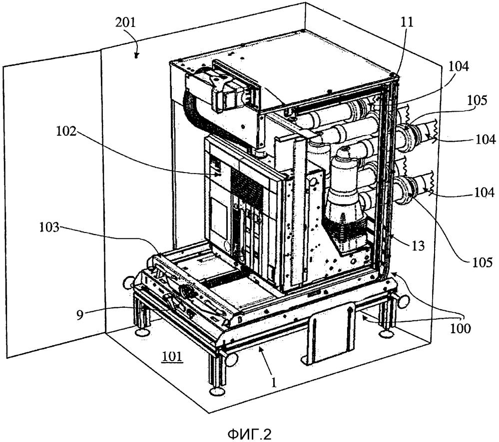 Устройство затвора для электрической распределительной панели и соответствующая распределительная панель