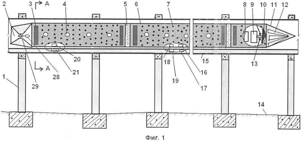 Сверхзвуковая наземная транспортная система с вакуумной подушкой