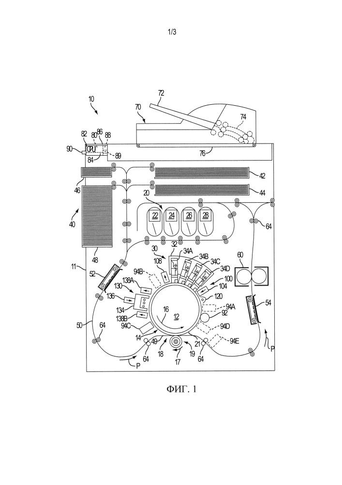Система и способ для подготовки поверхности формирования изображения в струйном принтере для печати чернилами на водной основе