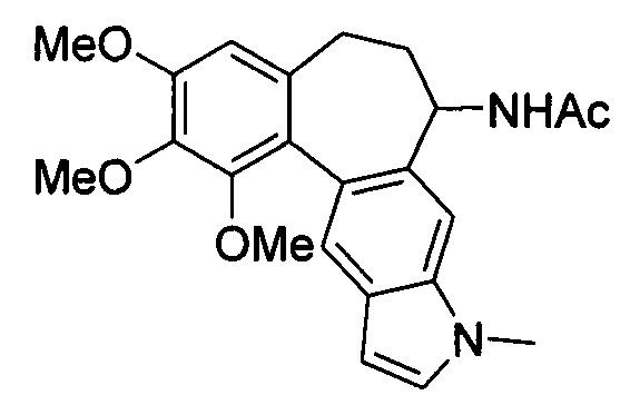 Производное 1-бромо-2,3,4-триметоксибензо[5,6:4,5]-(ar, 1s)-1-ацетамидо-6,7-дигидроциклогепта-[3,4-f]-1н-индола и его применение