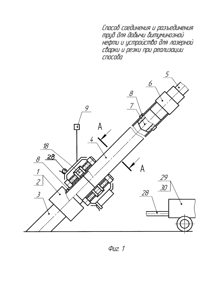 Способ соединения и разъединения труб для добычи битуминозной нефти и устройство для лазерной сварки и резки при реализации способа