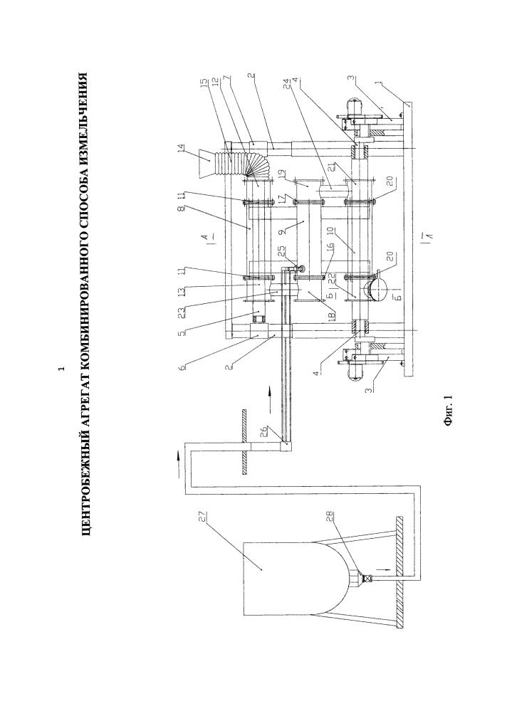 Центробежный агрегат комбинированного способа измельчения